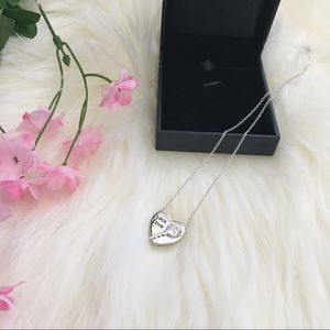 NWT 💕 925 Sterling Silver Lock Key Heart Necklace